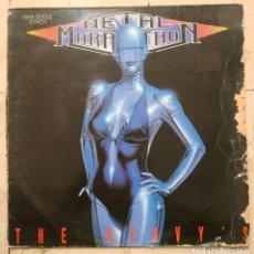 Discos de vinilo: MAXI SINGLE THE HEAVY'S - METAL MARATHON - ARIOLA 1989. Lote 141241554