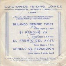 Discos de vinilo: RAUL NAVARRO Y LA ORQUESTA DE JAIME POCOVI - BAILANDO SIEMPRE TWIST EP DE VINILO EN DISCOS MERCEDES. Lote 222219733