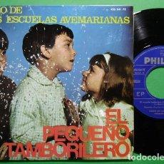 Discos de vinilo: COROS DE LAS ESCUELAS AVEMARIANAS ?– EL PEQUEÑO TAMBORILERO - EP PHILIPS ?SPAIN 1966. Lote 141248042