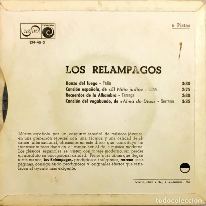 Discos de vinilo: EP. Los Relámpagos. Danza Del Fuego. (VG+/VG+) - Foto 2 - 141255954