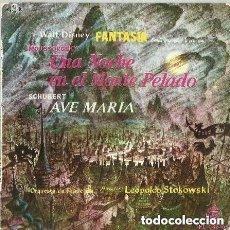 Discos de vinilo: LEOPOLD STOKOWSKI EP UNA NOCHE EN EL MONTE PELADO WALT DISNEY FANTASIA ESPAÑA 1960. Lote 141273938