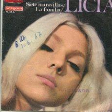 Discos de vinilo: LICIA / SIETE MARAVILLAS / LA FAMILIA (SINGLE 1967). Lote 141285534