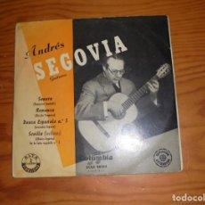 Discos de vinilo: ANDRES SEGOVIA. SONATA / ROMANZA + 3. EP. COLUMBIA. (#). Lote 141286198