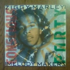 Discos de vinilo: ZIGGY MARLEY AND THE MELODY MAKERS - CONSCIOUS PARTY, 1988, VIRGIN. SPAIN.. Lote 141297902