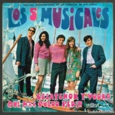 Discos de vinilo: LOS 5 MUSICALES. CASATSHOK Y VODKA. S-12 PALOBAL 1969 DISCO. Lote 141310594