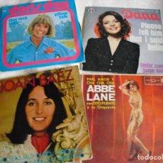 Discos de vinilo: ABBE LANE-DANA-JOAN BAEZ-DORIS DAY: CANTANTES FEMENINAS DE LOS 60'S-LOTE OPORTUNIODAD COLECCIONISTAS. Lote 141319110