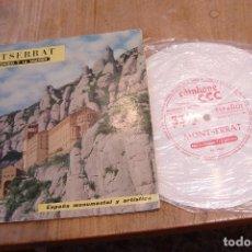 Discos de vinilo: MONTSERRAT POR EL SONIDO Y LA IMAGEN. LIBRO+VINILO. 1953. BIEN CONSERVADO.. Lote 141149850