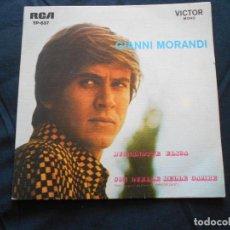 Discos de vinilo: GIANNI MORANDI // CON QUELLE BELLE GAMBE + 3. Lote 206601772