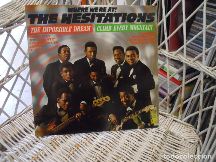 THE HESITATIONS – WHERE WE'RE AT! .LP ORIGINAL USA 1968.SELLO KAPP.SOUL/FUNK/GOSPEL (Música - Discos - LP Vinilo - Funk, Soul y Black Music)