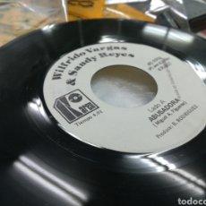 Discos de vinilo: WILFREDO VARGAS & SANDY REYES SINGLE ABUSADORA REPUBLICA DOMINICANA. Lote 141340129