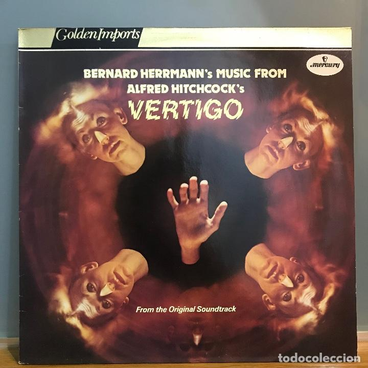 VERTIGO DE ALFRED HITCHCOCK LP BANDA SONORA ORIGINAL MUSICA BERNARD HERRMANN_1977 (Música - Discos - LP Vinilo - Bandas Sonoras y Música de Actores )