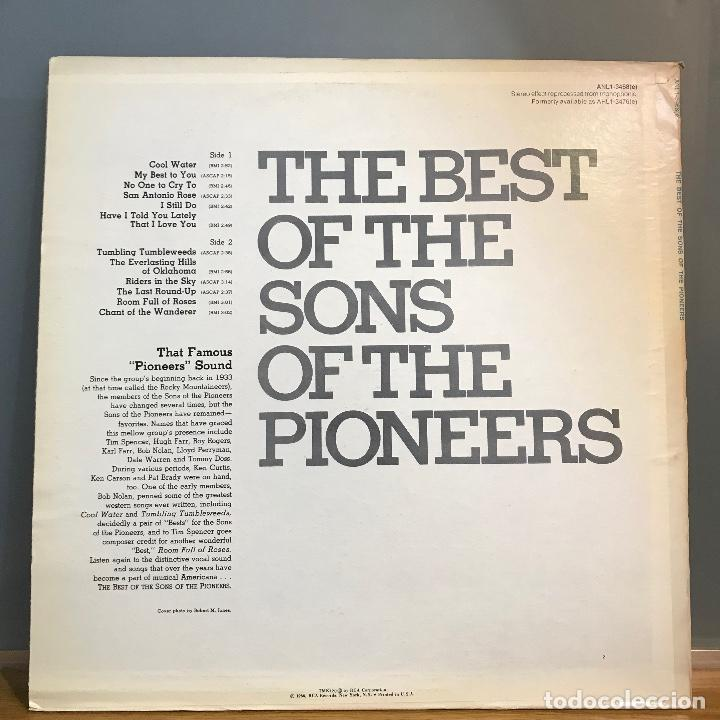 Discos de vinilo: THE BEST OF ' THE SONS OF THE PIONEERS' USA-1966 LP33 - Foto 2 - 141440102