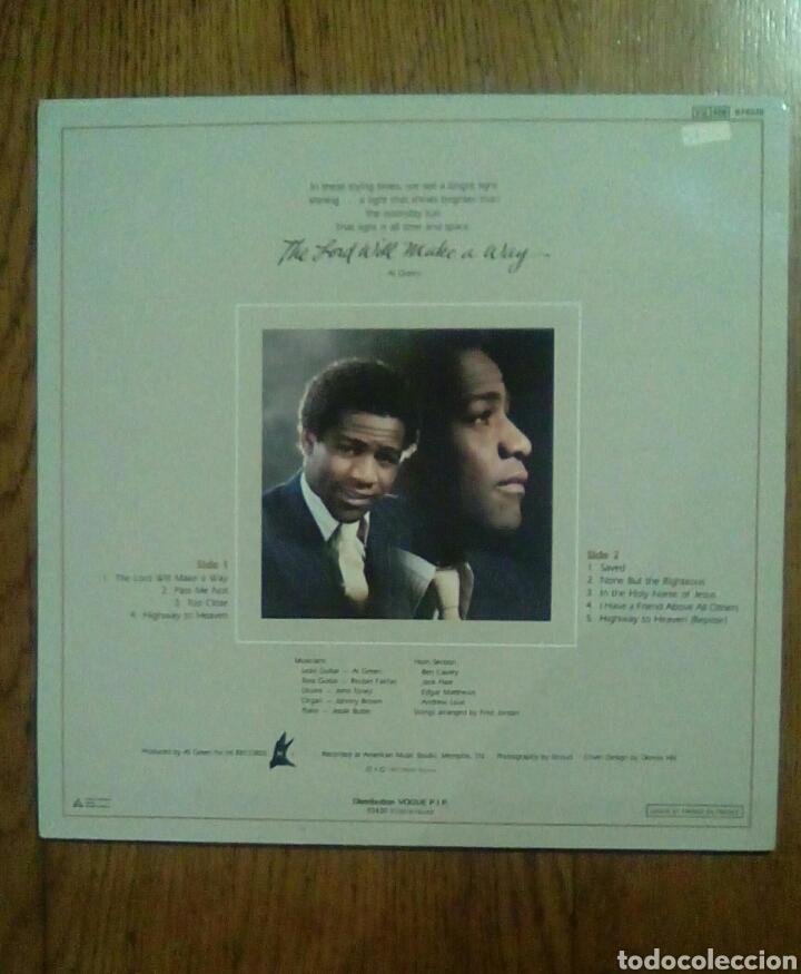 Discos de vinilo: Al Green - The lord will make a way, 1980, Hi Records. France. - Foto 2 - 141448022