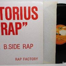 Discos de vinilo: DISCO VINILO NOTORIUS RAP, THE B. SIDE RAP, RAP FACTORY. Lote 141453086