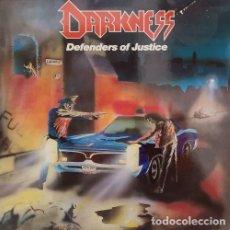 Discos de vinilo: DARKNESS - DEFENDERS OF JUSTICE - LP DE VINILO HEAVY METAL - EDICION ALEMANA. Lote 141460430