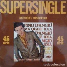 Discos de vinilo: PINO D'ANGIO - MA QUALE IDEA - MAXI SINGLE DE VINILO ITALO DISCO EUROBEAT. Lote 141461870