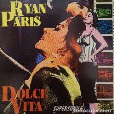 Discos de vinilo: RYAN PARIS - DOLCE VITA - MAXI SINGLE DE VINILO ITALO DISCO EUROBEAT. Lote 147304016