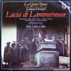 Discos de vinilo: LA GRAN OPERA GAETANO DONIZETTI LUCIA DI LAMMERMOOR. Lote 141465598
