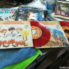 Discos de vinilo: MARISOL LOTE 2 SINGLES VILLANCICOS DE TRIANA / LOS PECES 1972. Lote 141476154