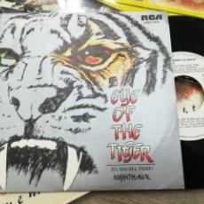 Discos de vinilo: NIGHTHAWK SINGLE PROMOCIONAL EYE OF TIGER EDPAÑA 1982. Lote 141481124