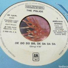 Discos de vinilo: THE POLICE SINGLE PROMOCIONAL POR LA MISMA CARA DE DO DO DO,DE DA DA DA ESPAÑA 1980. Lote 141489438