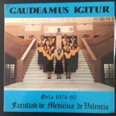 Discos de vinilo: FACULTAD DE MEDICINA DE VALENCIA - GAUDEAMUS IGITUR- 1980. Lote 141498566