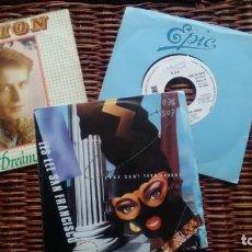 Discos de vinilo: LOTE DE 3 SINGLES (VINILO) DE ITALO DISCO AÑOS 80. Lote 141526530