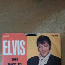 Discos de vinilo: ELVIS PRESLEY. RAGS TO RICHES/WHERE DID THEY GO, LORD. SINGLE UK - 1971. Lote 141531448