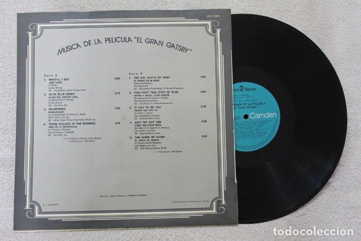 Discos de vinilo: BSO THE GREAT GATSBY LP VINYL MADE IN SPAIN 1974 - Foto 2 - 141541690