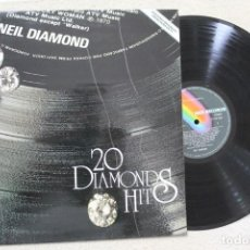 Discos de vinilo: NEIL DIAMOND 20 DIAMONDS HITS LP VINYL MADE IN SPAIN 1979. Lote 141544858