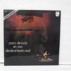 Discos de vinilo: PACO DE LUCIA EN VIVO DESDE EL TEATRO REAL. LP VINILO. PHILIPS. 1975. VER FOTOGRAFIAS ADJUNTAS. Lote 141559946
