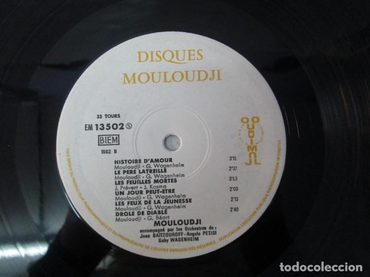 Discos de vinilo: MOULOUDJI. POSIBLEMENTE DEDICADO POR EL AUTOR. LP VINILO. VER FOTOGRAFIAS ADJUNTAS - Foto 8 - 141569850