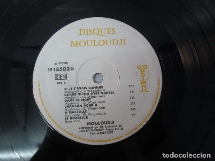 Discos de vinilo: MOULOUDJI. POSIBLEMENTE DEDICADO POR EL AUTOR. LP VINILO. VER FOTOGRAFIAS ADJUNTAS - Foto 10 - 141569850