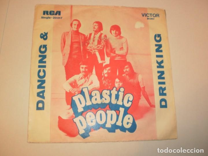 SINGLE PLASTIC PEOPLE. DANCING AND DRIKING. REJECTION. RCA PORTUGAL (PROBADO Y BIEN) (Música - Discos - Singles Vinilo - Pop - Rock - Extranjero de los 70)