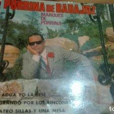 Discos de vinilo: DISCO VINILO EP PORRINA DE BADAJOZ. Lote 141576822