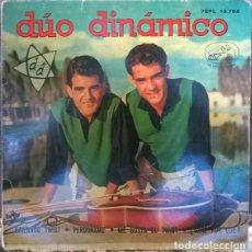 Discos de vinilo: DÚO DINÁMICO. BAILANDO TWIST/ PERDÓNAME/ ME GUSTA EL TWIST/ ¿DIME POR QUÉ? EMI-MASTERVOICE ESP. 1962. Lote 141578654