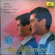 Discos de vinilo: DÚO DINÁMICO. CARIÑOSA/ LIMBO ROCK/ MADISON DE LA RUTA/ TE VI EN UN SUEÑO. EMI-MASTERVOICE ESP. 1963. Lote 141578990