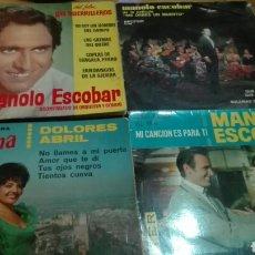 Discos de vinilo: LOTE 4 DISCOS DE VINILO EPS MANOLO ESCOBAR,DOLORES ABRIL. Lote 141581673