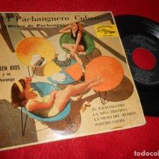 Discos de vinilo: RUBEN RIOS CHARANGA EL PACHANGUERO/LA NIÑA TRAVIESA/PANCHO CALMA +1 EP 1961 CUBALEGRE SPAIN CUBANO. Lote 141596154