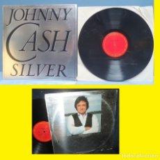 Discos de vinilo: JOHNNY CASH / SILVER - RARA 1ª EDIC. PLATEADA !! RARO LP / OFICIAL DISCOGRAFIA / VINYL USA IMPORT,EX. Lote 34275447