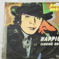 Discos de vinil: DISCO VINILO SINGLE. PAUL ANKA . HAPPIER CLOSING DOORS . Lote 141646190