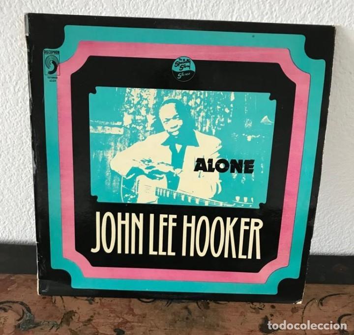 ALONE. JOHN LEE HOOKER (Música - Discos de Vinilo - EPs - Jazz, Jazz-Rock, Blues y R&B)