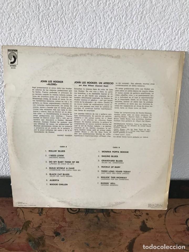 Discos de vinilo: Alone. John Lee Hooker - Foto 2 - 141654082