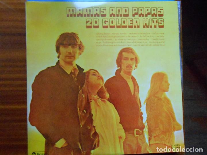DOBLE LP MAMAS AND PAPAS 2O GOLDEN HITS 1977 ABC RECORDS (Música - Discos de Vinilo - Maxi Singles - Pop - Rock Extranjero de los 70)