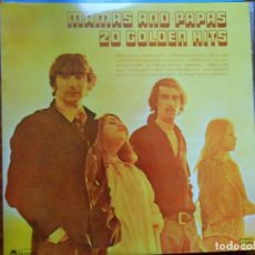 Discos de vinilo: DOBLE LP MAMAS AND PAPAS 2O GOLDEN HITS 1977 ABC RECORDS. Lote 141668306