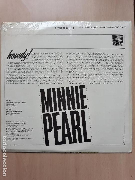 Discos de vinilo: Minnie pearl- howdy- lp sunset liberty usa- nuevo precintado - Foto 2 - 141682970