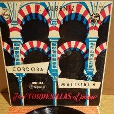 Discos de vinilo: I. ALBENIZ / CÓRDOBA-MALLORCA / JOSÉ TORDESILLAS AL PIANO / EP - PHILIPS-1958 / ***/***. Lote 141712382