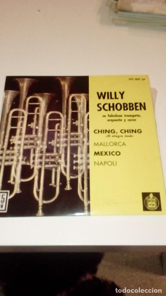 BAL6 BEN18 DISCO CHICO 7 PULGADAS WILLY SCHOBBEN EP CHING,CHING ESPAÑA 1962 (Música - Discos de Vinilo - EPs - Otros estilos)