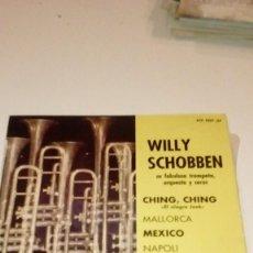 Discos de vinilo: BAL6 BEN18 DISCO CHICO 7 PULGADAS WILLY SCHOBBEN EP CHING,CHING ESPAÑA 1962. Lote 218392087