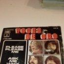 Discos de vinilo: BAL6 BEN18 DISCO CHICO 7 PULGADAS THE BEATLES VOCES DE ORO PLEASE PLEASE ME ASK ME ESTUDIO OFERTAS. Lote 141716566